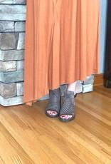 Rust Midi Dress