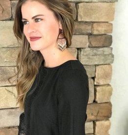 Rose Gold Beaded Earrings