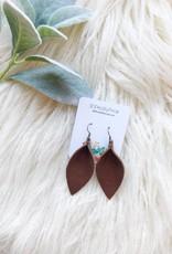 SD Prickly Pear Brown Petal Shaped Earrings