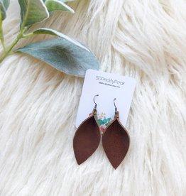 SD Prickly Pear Brown Teardrop Earrings