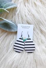 Striped Teardrop Earrings