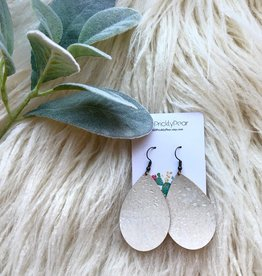 Teardrop Cork Earrings