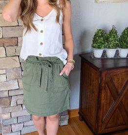 Dex Clothing Olive Cargo Skirt