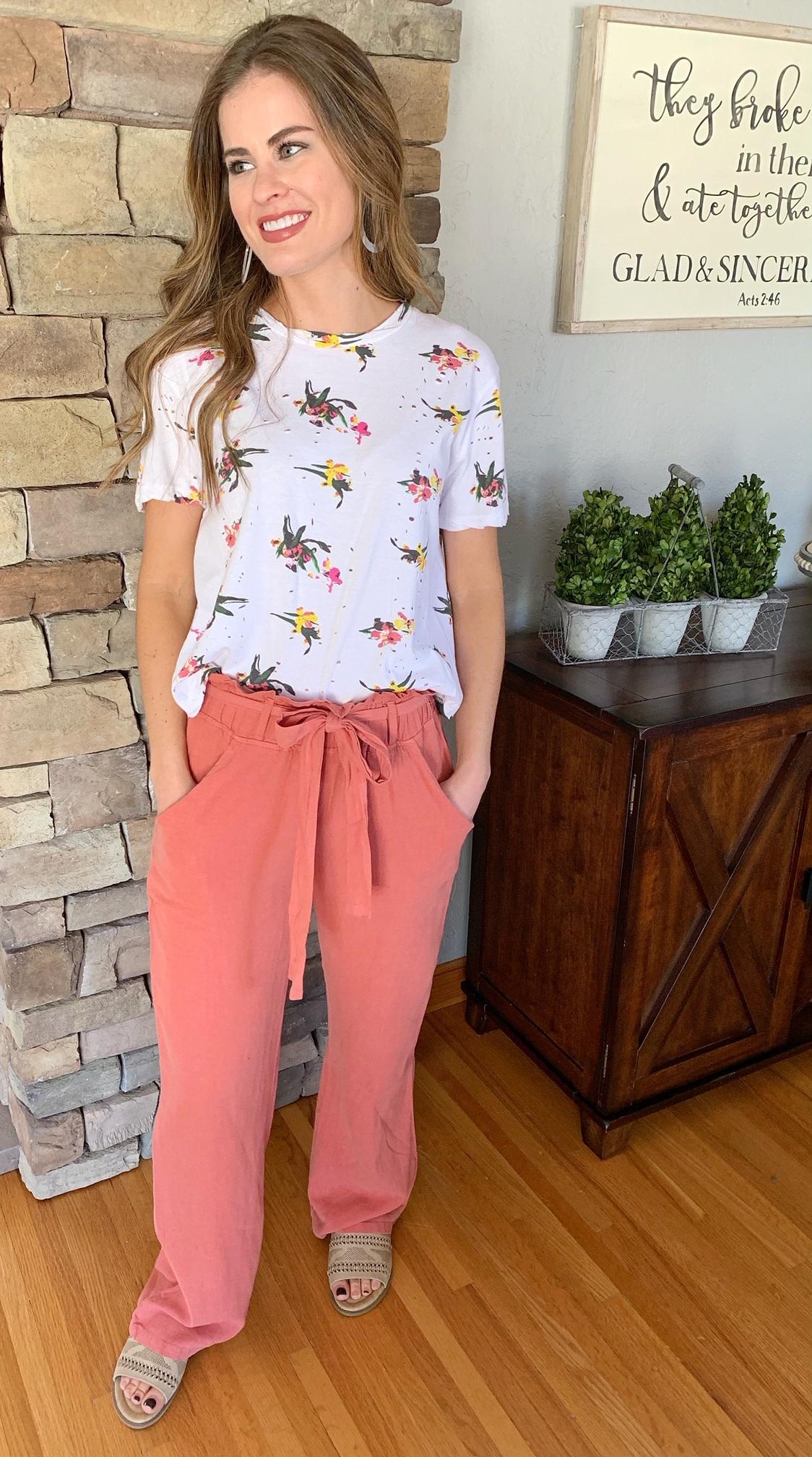 Rosewood Tie Pants