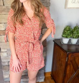 Dex Clothing Coral Spice Romper