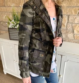 Camo Zip-Up Jacket