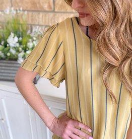 Yellow Pinstripe Blouse
