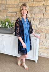 Dex Clothing Black Lace Kimono