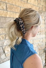 Black Cheetah Pony Scrunchie