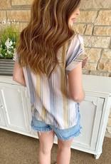 High Rise Frayed Denim Shorts
