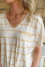 Gold Layered Bead Necklace