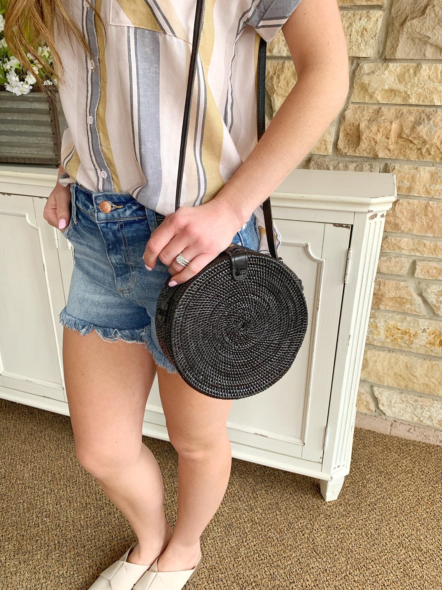 Natural Woven Straw Hand Made Bag