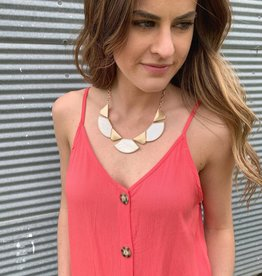 Pearl Geometric Necklace