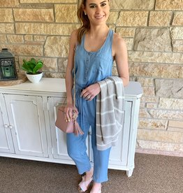 Everly Sleeveless Denim Jumpsuit