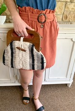 Wooden Braided Bag