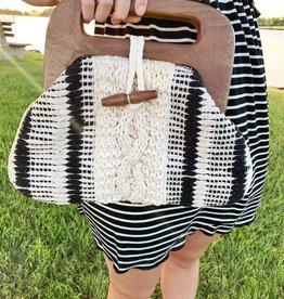 Wooden Braided Bag