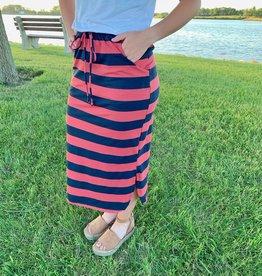 Navy & Brick Skirt