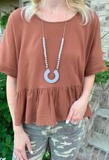 Beaded Wicker Necklace