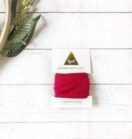 Red Linen Headband