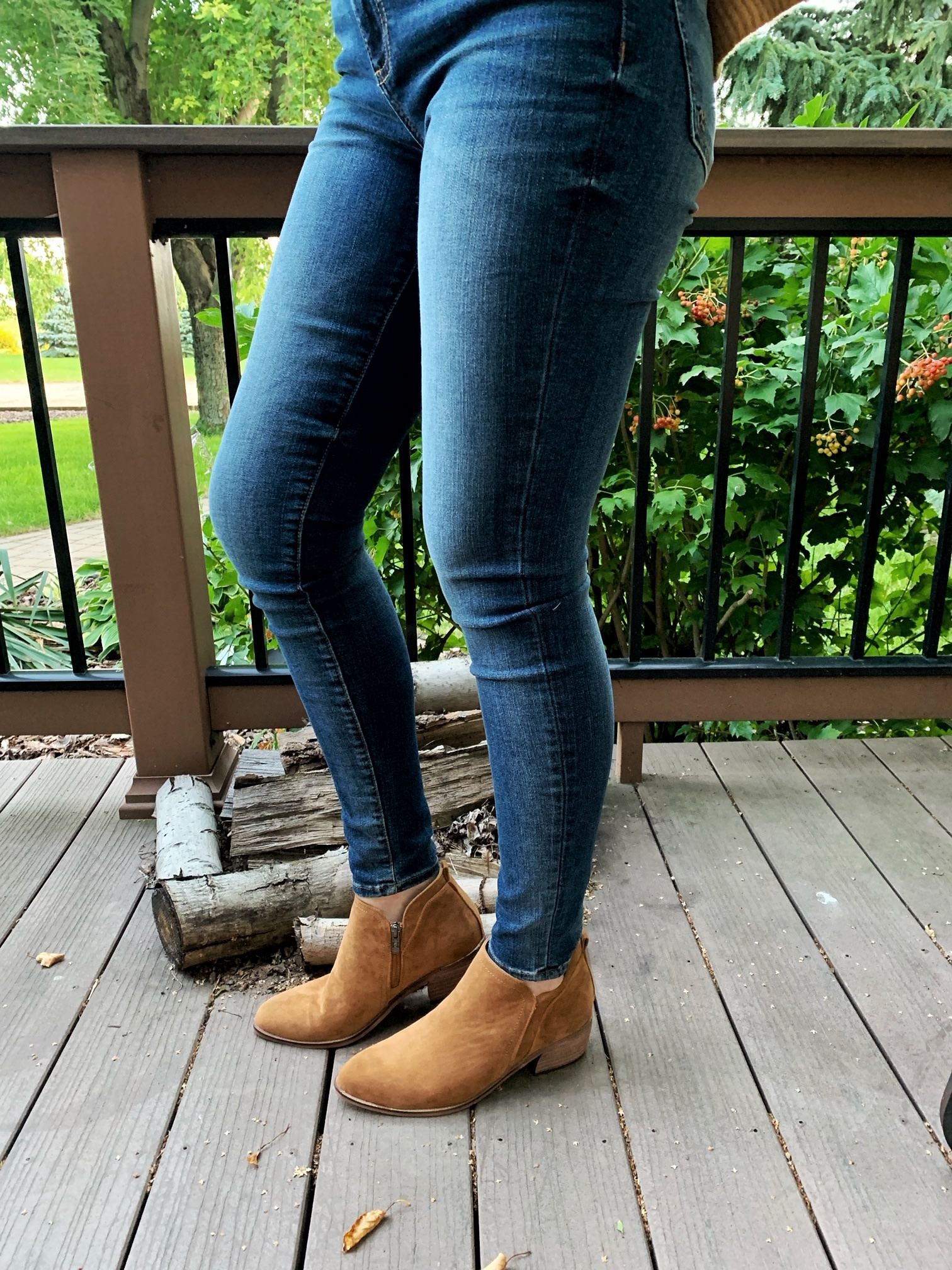 Whiskey Suede Bootie