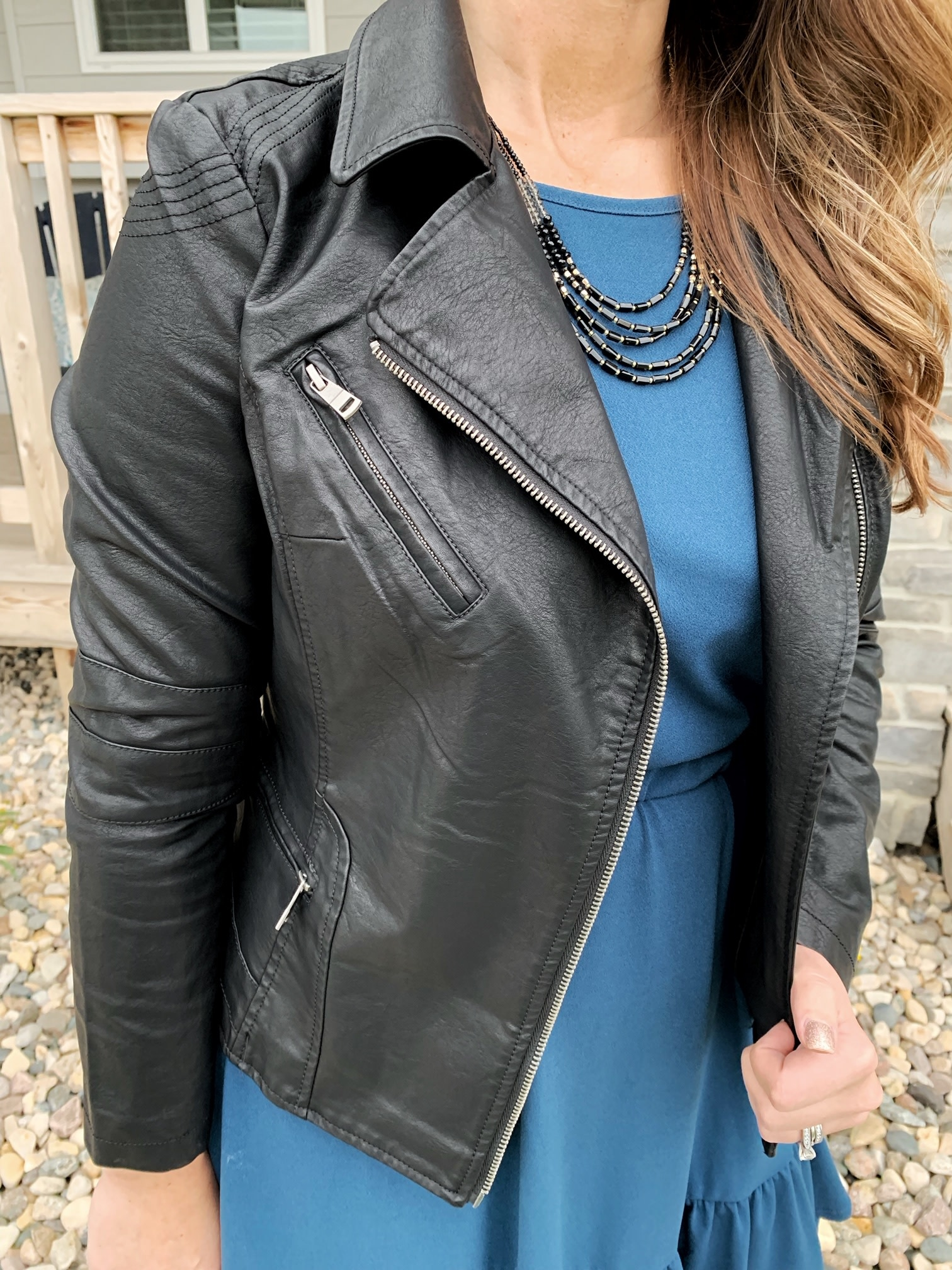 Coalition Black Vegan Leather Jacket