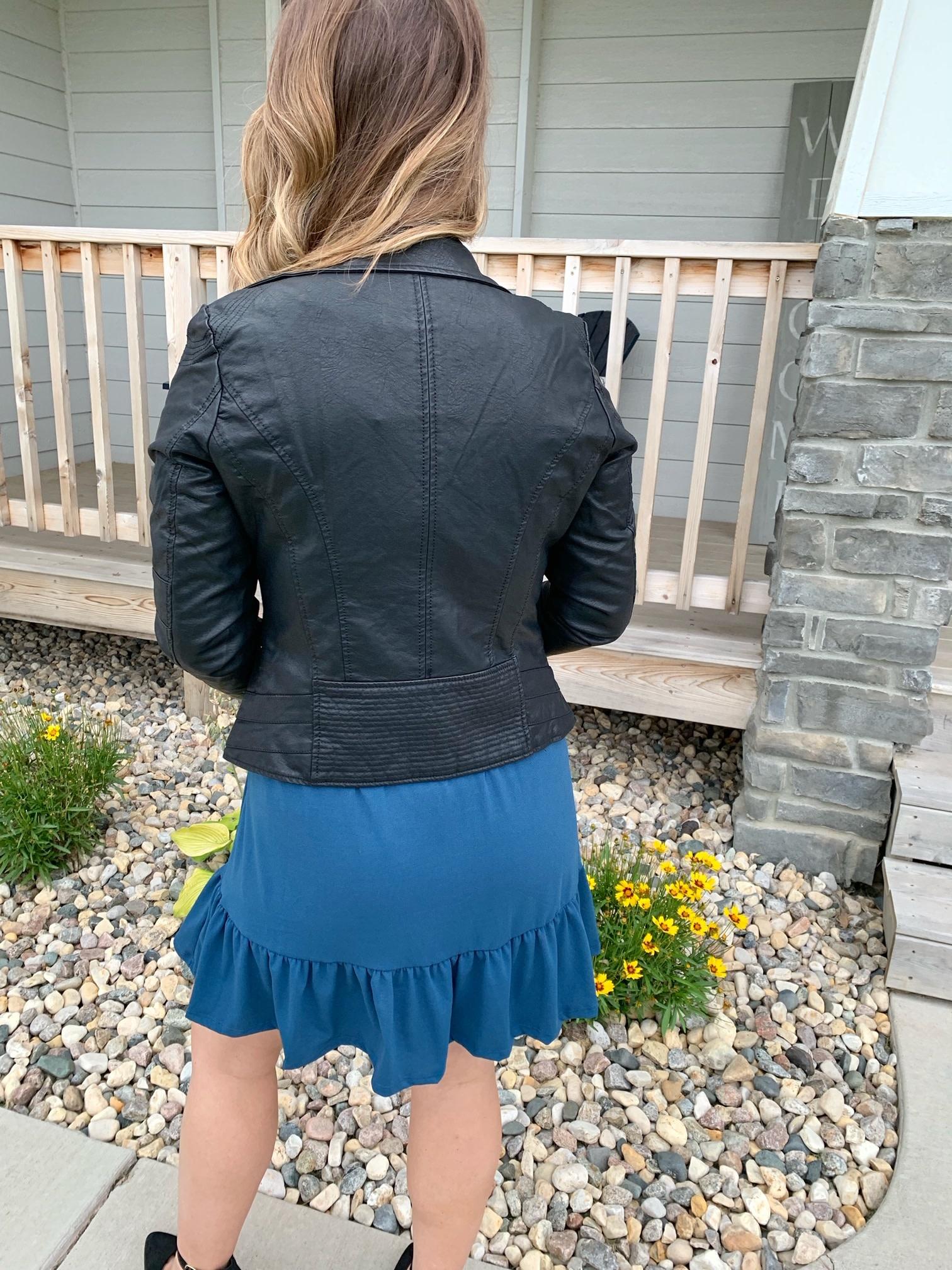 Coalition Black Vegan Leather Jacket