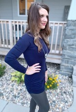 Navy Rouched Tunic