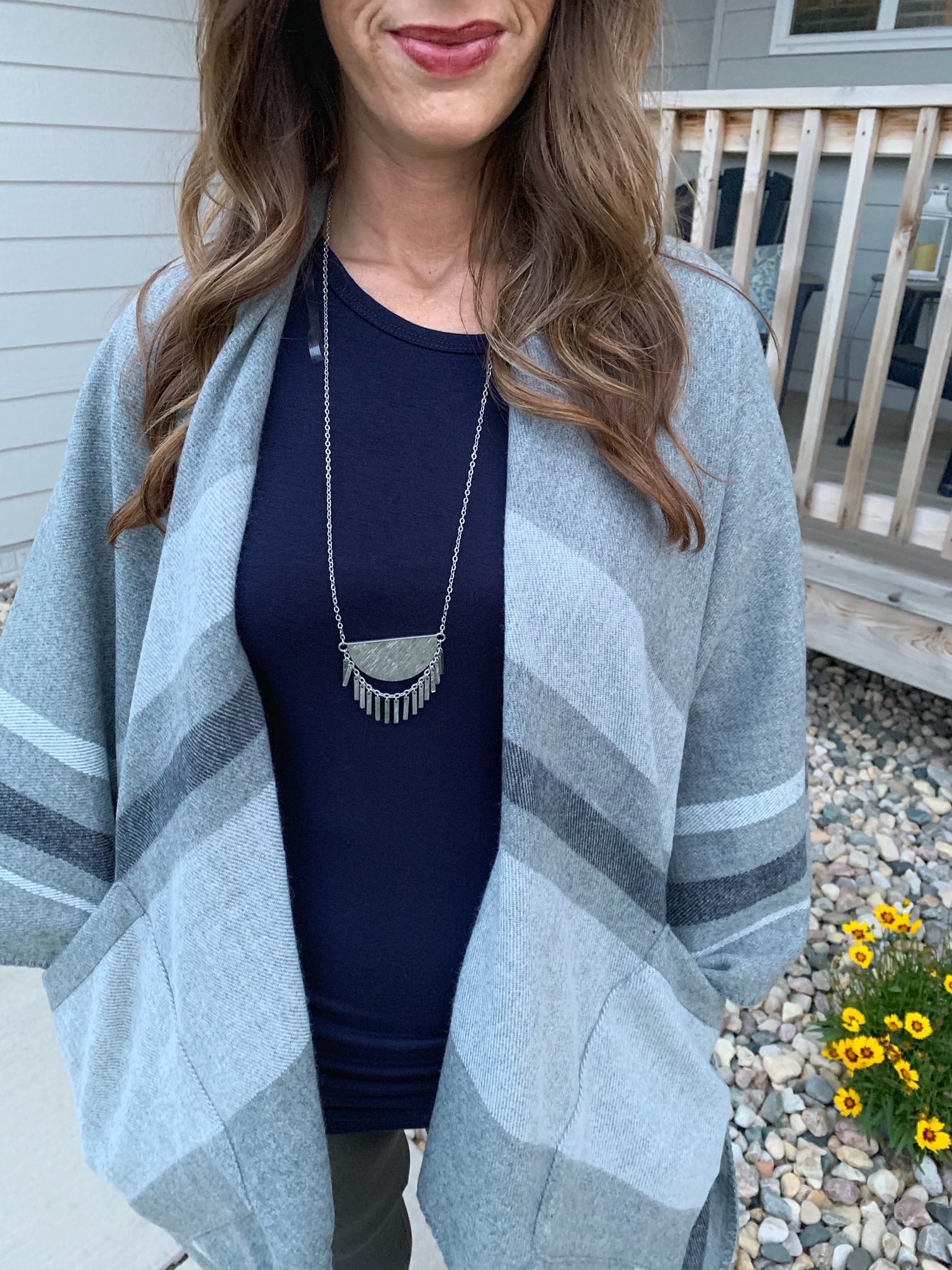Brushed Silver Necklace