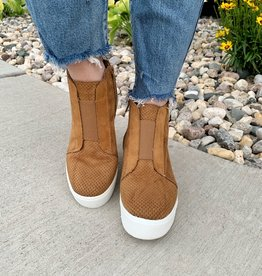 Fortune Dynamic Cognac Wedge Booties