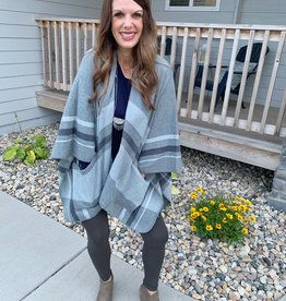 Angie Plaid Wrap with Pockets
