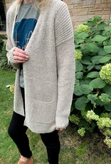 Staccato Oatmeal Knit Cardigan