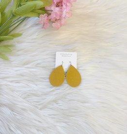 Mustard Teardrop Earrings