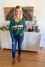 Evergreen Striped Sweater