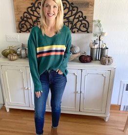 Evergreen Striped Sweater