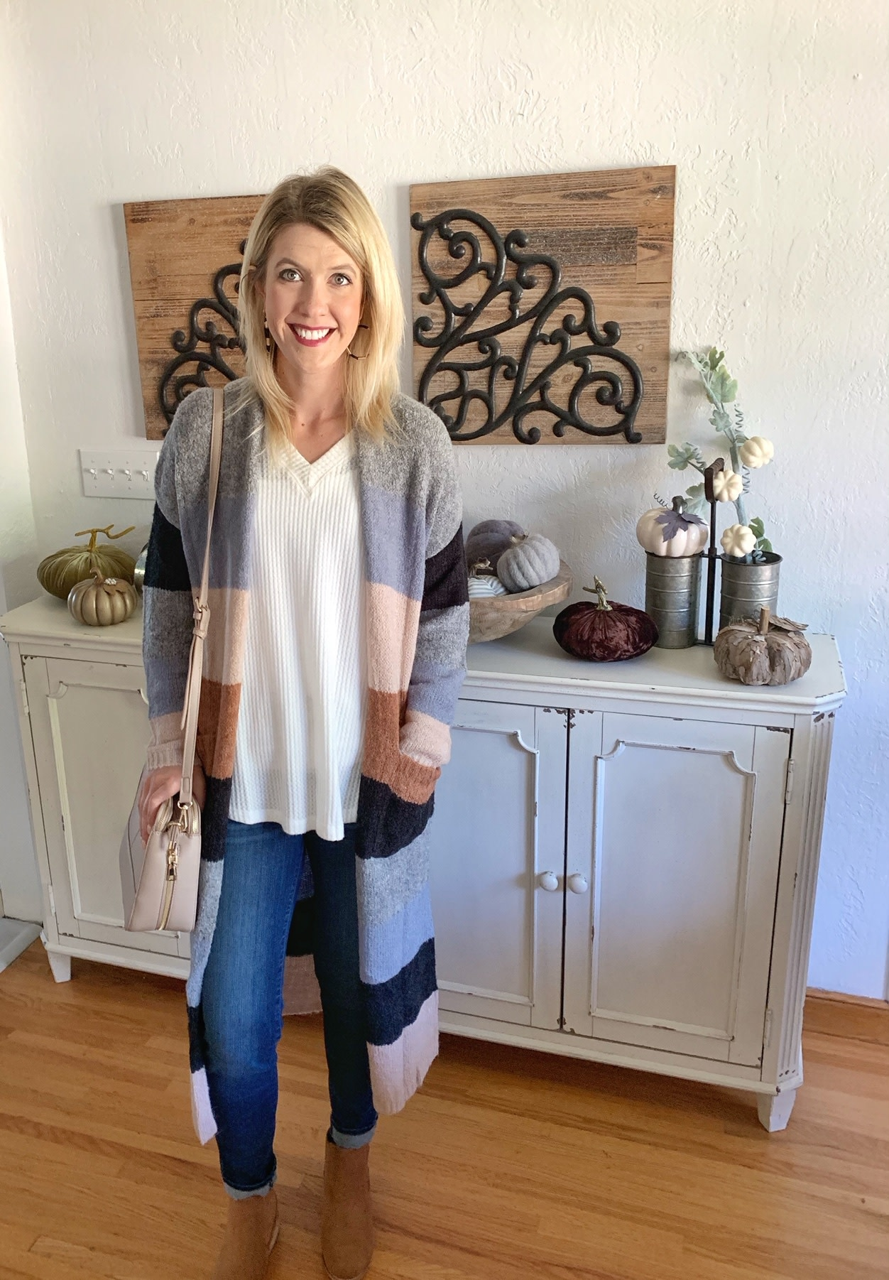 Grey Day Block Cardigan