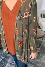 Olive Floral Kimono