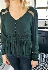 Shadow Teal Blouse