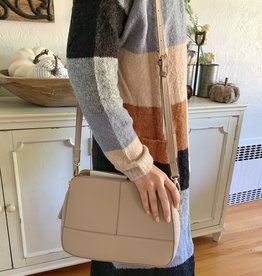 MMS Trading Taupe Grid Crossbody