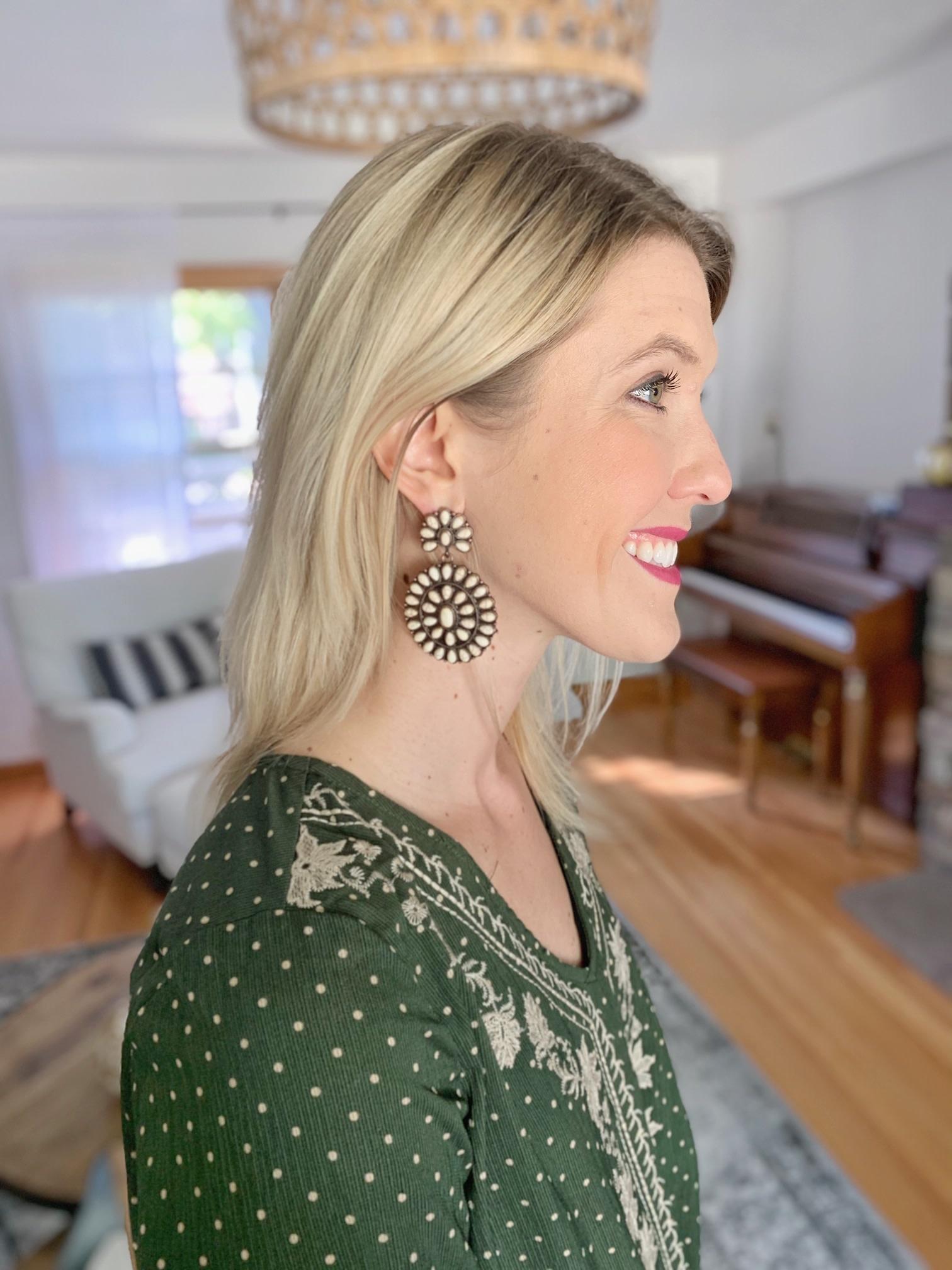 Ivory Beaded Earring