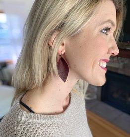 Merlot Petal Shaped Earrings