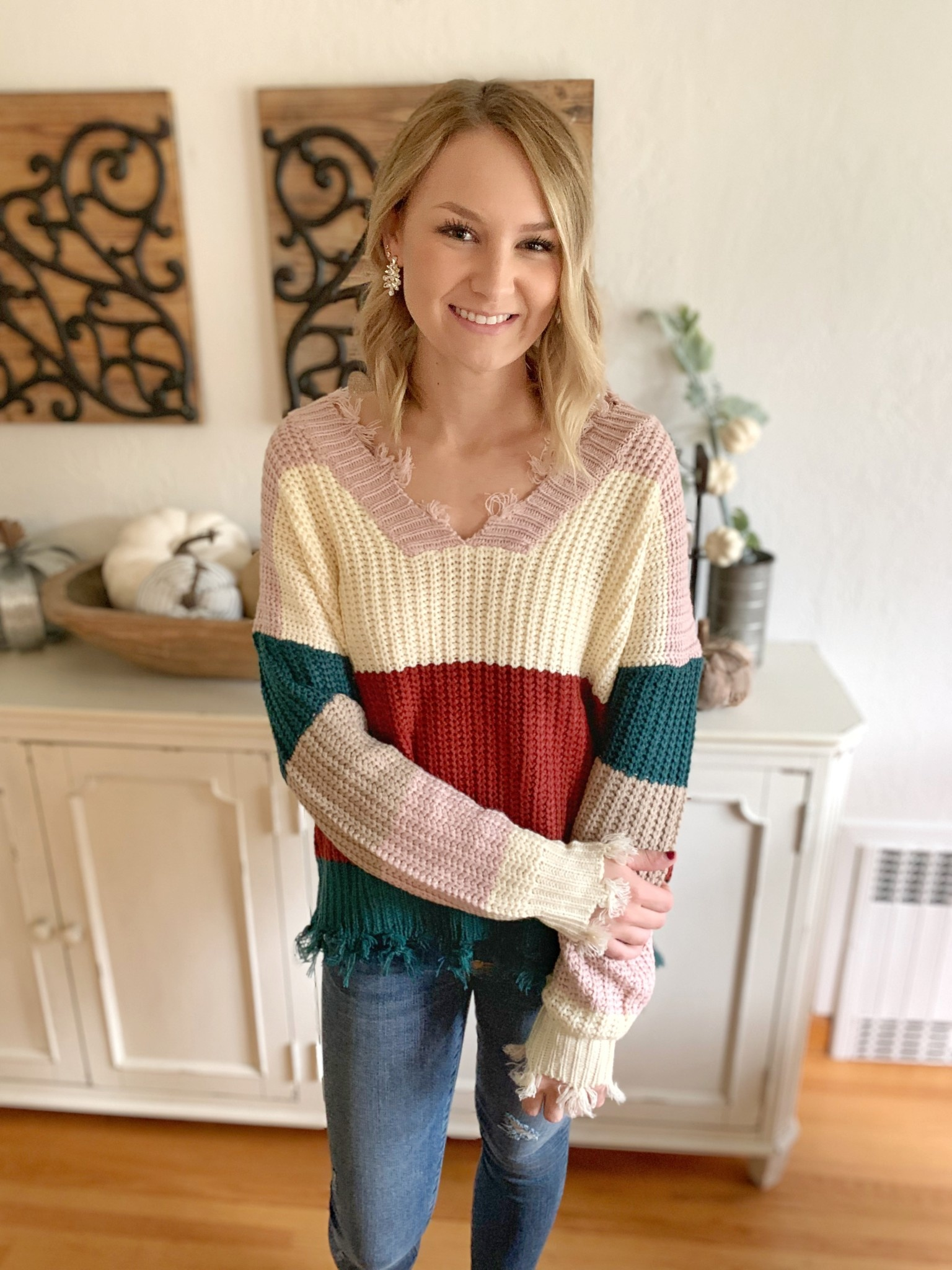 entro Rust/Multi Destroyed Sweater