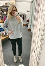 Gray Mockneck Sweater