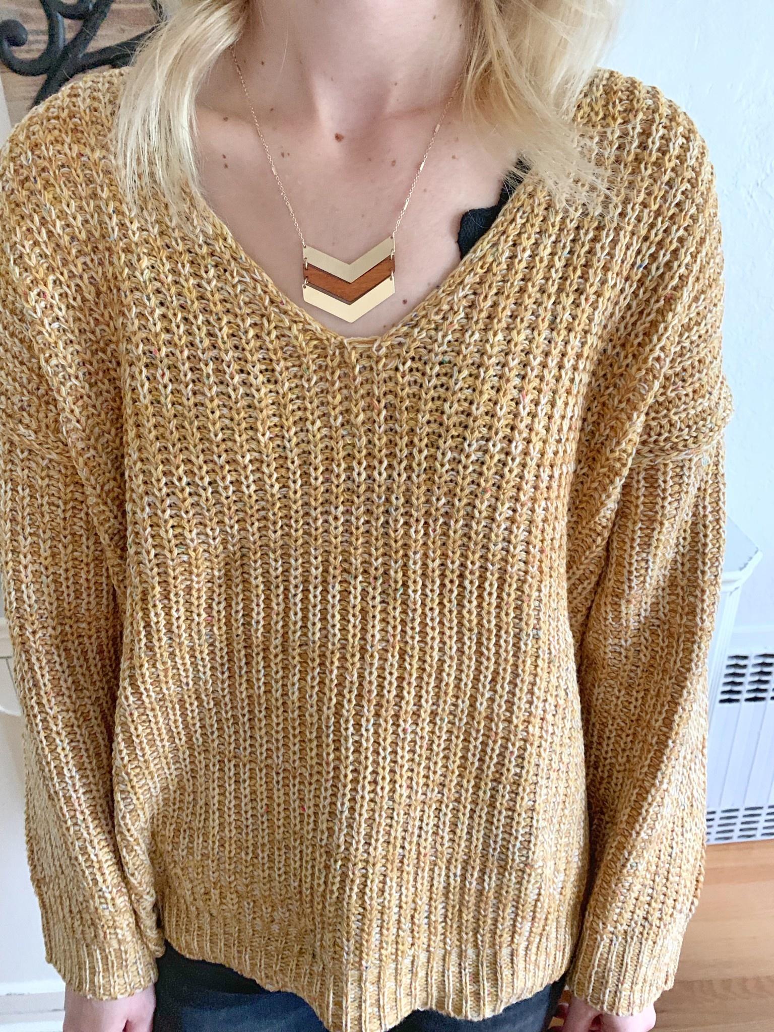 Brown Arrow Necklace