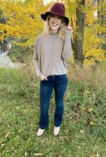 Taupe Mockneck Sweater