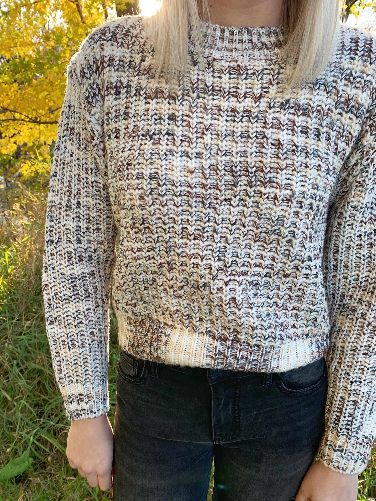 Marbled Mockneck Sweater