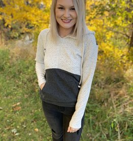 Ampersand Avenue Charcoal Halfzip Sweatshirt