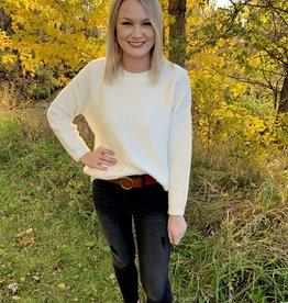 White Shimmer Sweater