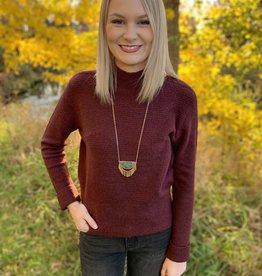 Burgundy Mockneck Sweater