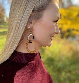 Wooden Linked Earrings