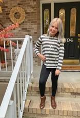 Charcoal Striped Sweatshirt